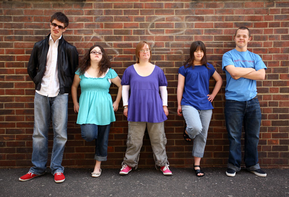 Group of teens with an intellectural disability