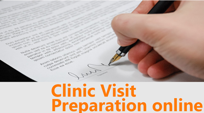 Clinic Visit Preparation online