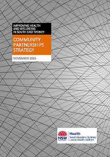 Cover of the  SESLHD Community Partnerships Strategy 2017