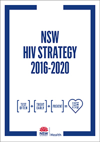 Cover of the NSW HIV Strategy 2016 - 2020