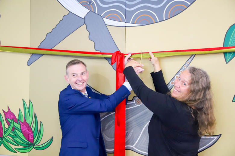 Bruce Notley-Smith (Member for Coogee) & Natalie Bateman (artist) ribbon cutting
