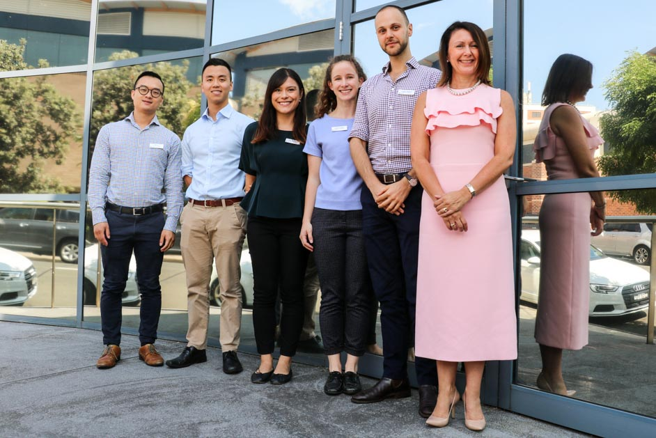 St George Hospital 2019 interns with Leisa Rathborne (General Manager, St George Hospital)