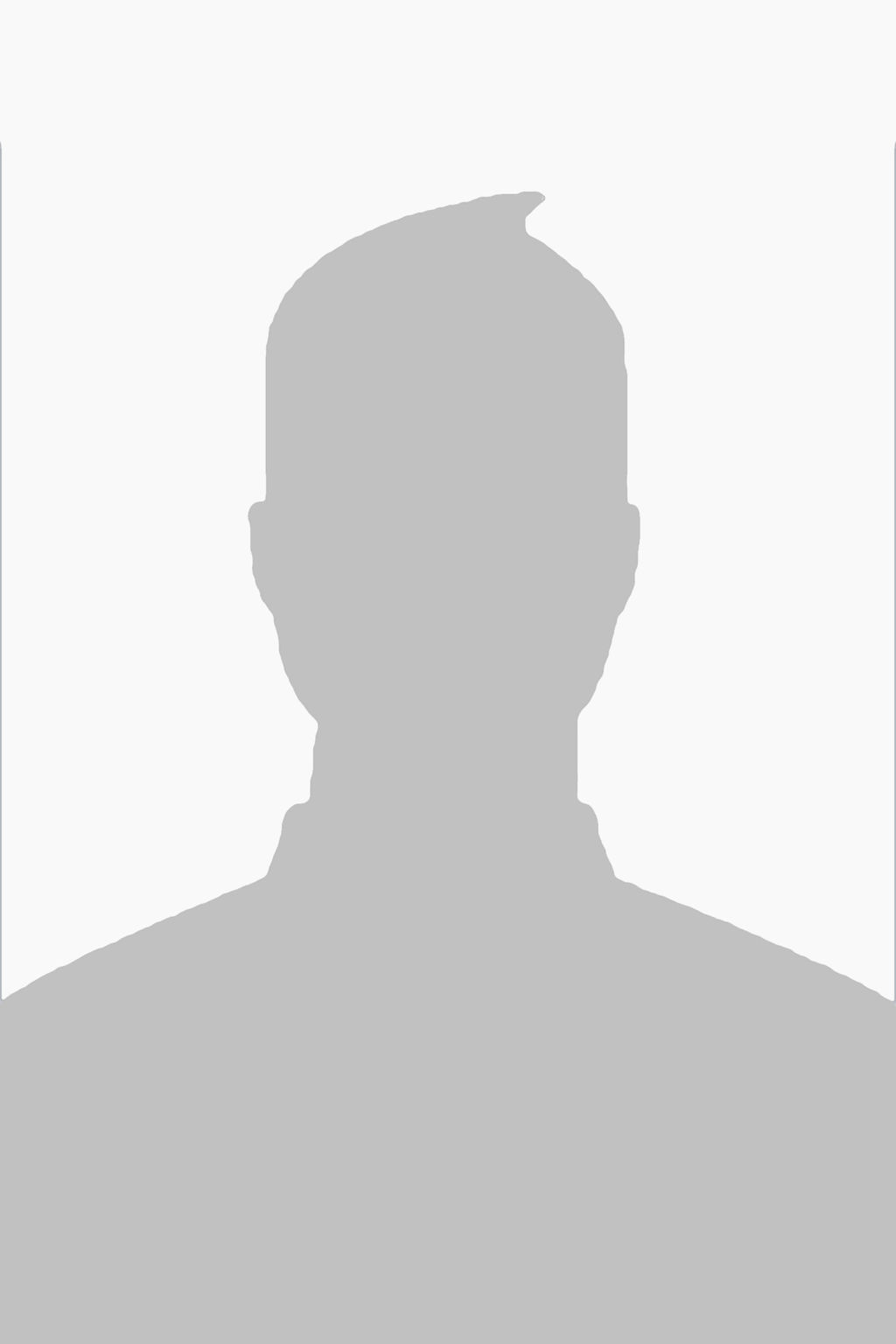 Blank male profile