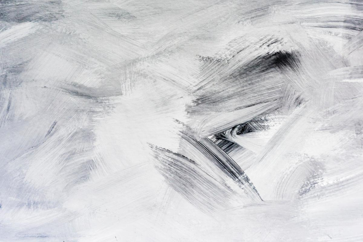 Abstract patining of white and black