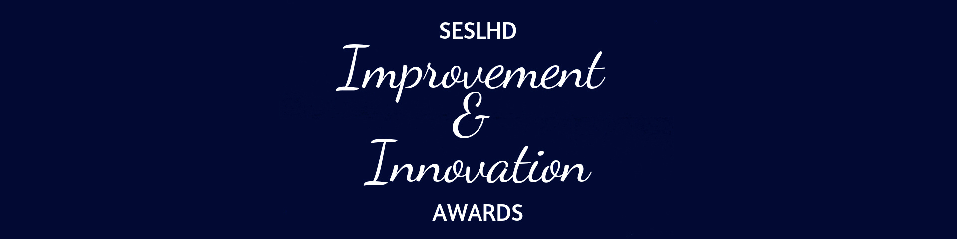 2019 Improvement and Innovation Awards wording on blue background