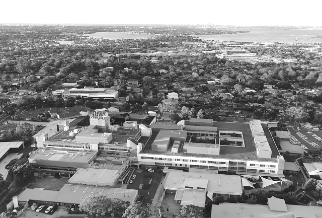 Aerial photo of The Sutherland Hospital