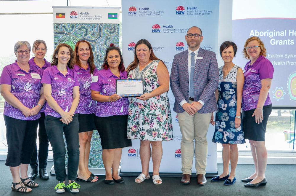 Winners accepting their awards at the official Aboriginal Healthy Lifestyle Grants ceremony
