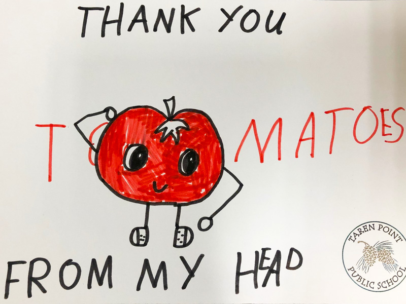 Artwork from child, thanking healthcare staff