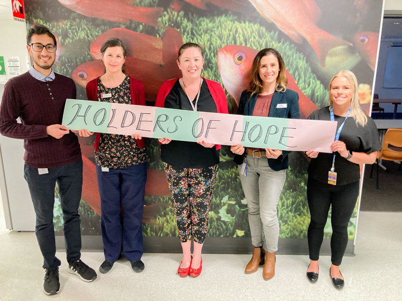 Staff sharing messages of hope during Mental Health Month